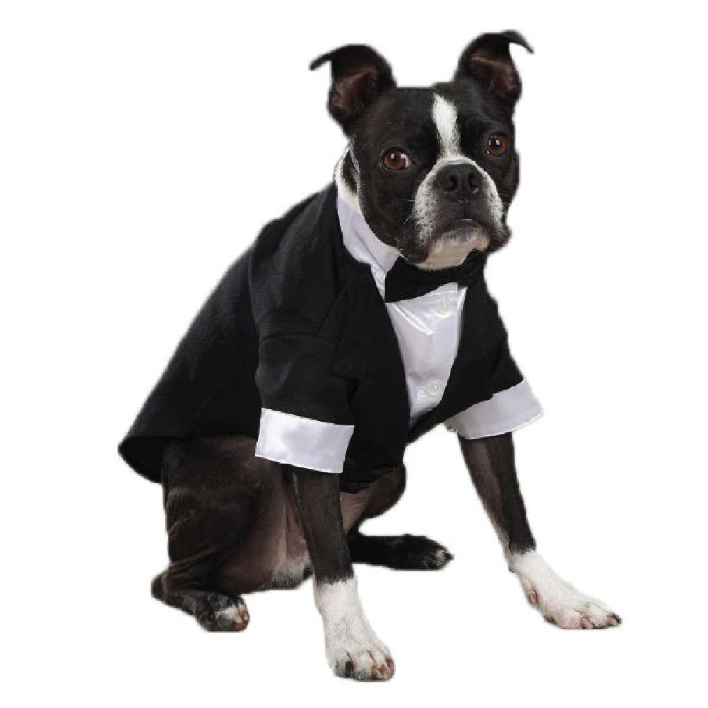 Dog Tuxedo Ever After Satin Double-Breasted Tux Coat Bowtie