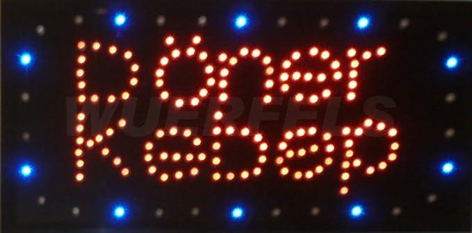 Rótulo luminoso LED, diseño con texto