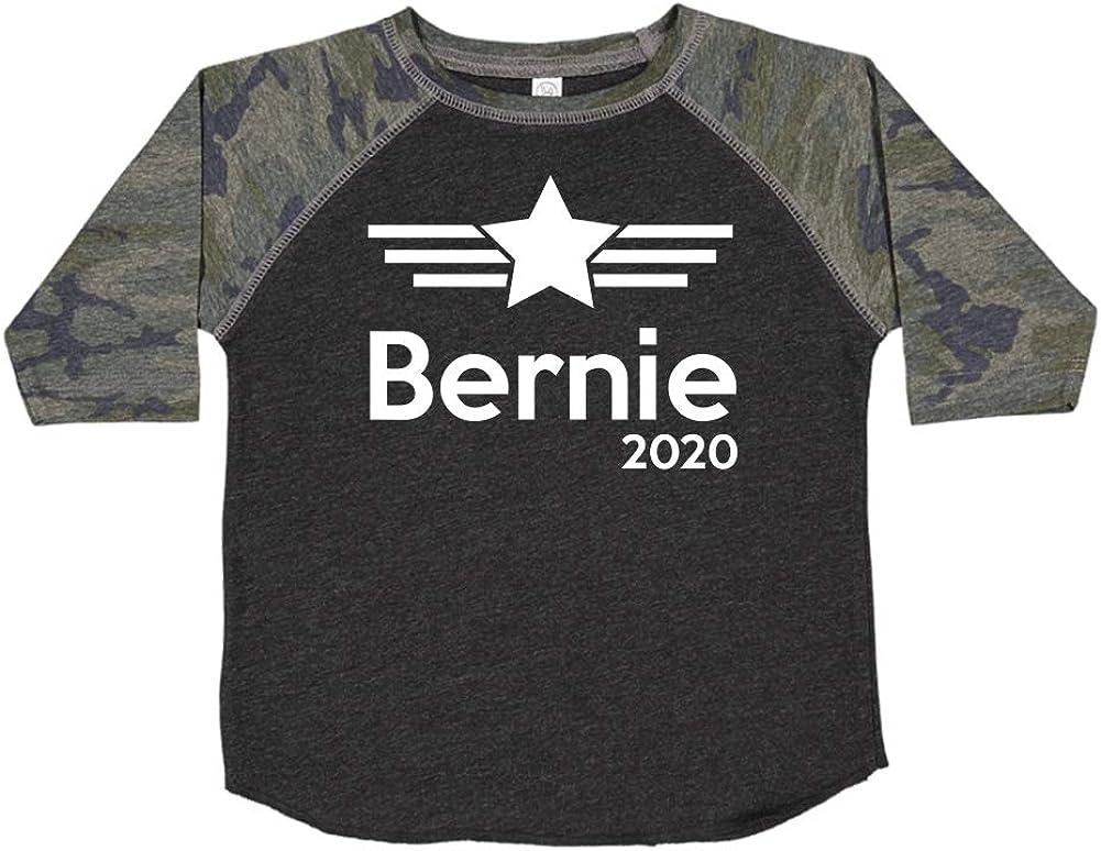 Mashed Clothing Bernie 2020 Presidential Election 2020 Toddler//Kids Raglan T-Shirt