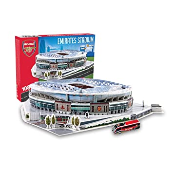 Estadio Emirates (Arsenal FC) - Nanostad - Puzzle 3D (Producto Oficial Licenciado)