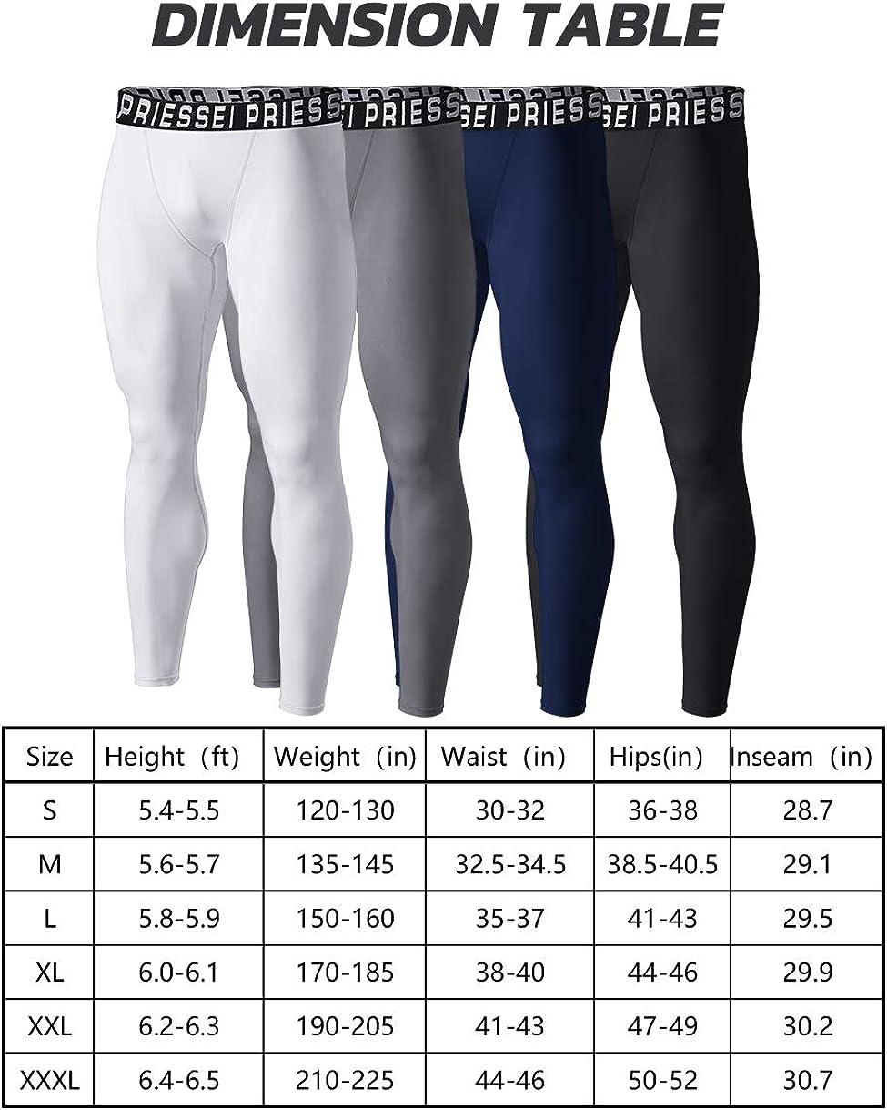 Suyye Mens Compression Pants 2 Pack Basketball Leggings Running Tights Baselayer