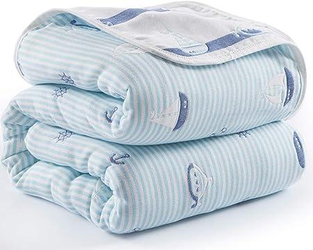 WeN Manta de algodón Manta de Gasa Edredón Edredón de Verano Fresca Manta de bebé (Tamaño : 150 * 200cm): Amazon.es: Hogar