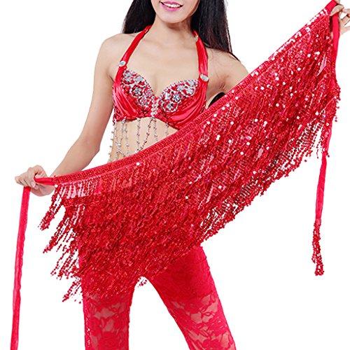 Wuchieal Belly Dance Skirt Hip Scarf Hot dance hip Belt skirt Latin dance Hula hip scarf (Hot Belly Dancing Apparel)