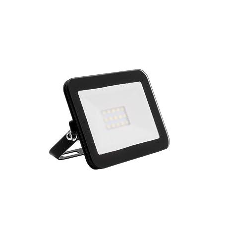 Foco Proyector LED Slim Cristal 10W Negro Blanco Neutro 4000K-4500K