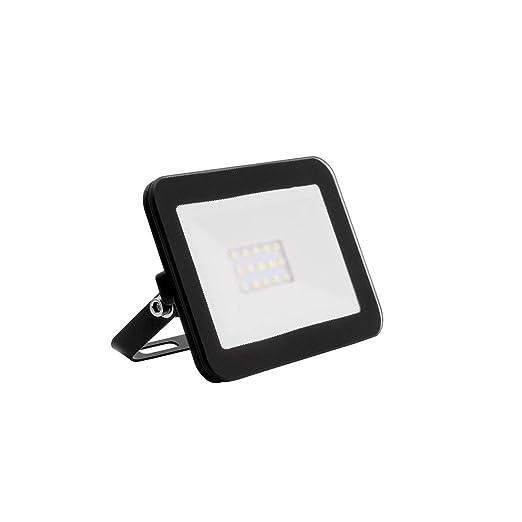 Foco Proyector LED Slim Cristal 10W Negro Blanco Cálido 3000K-3500K
