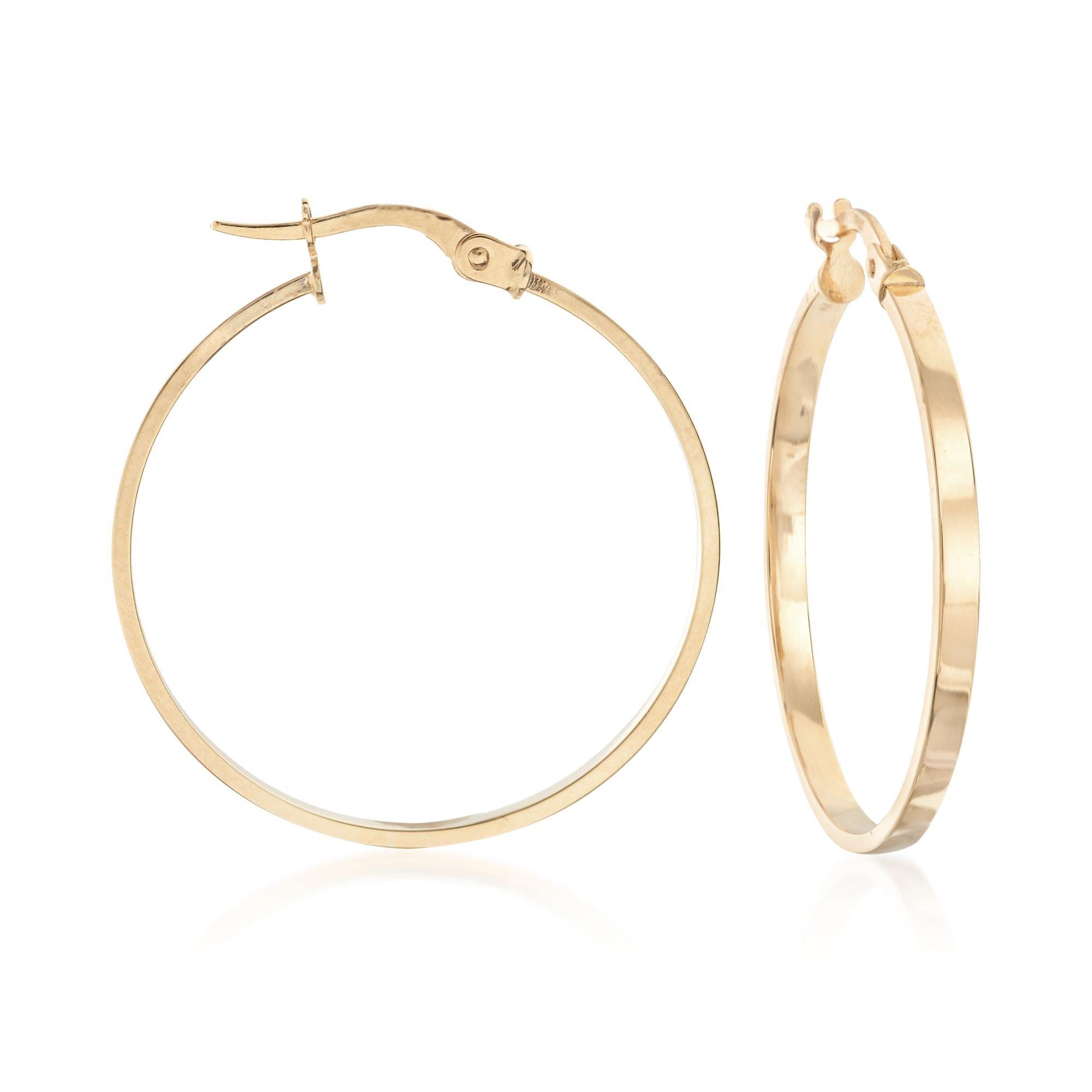 Ross-Simons Italian 14kt Yellow Gold Hoop Earrings