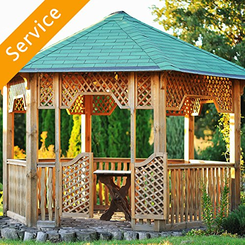 Cheap  Gazebo Assembly - On a Patio