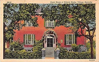 Shaker Village Kentucky Guest House Linen Antique Postcard J53394