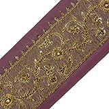 Vintage Sari Border Indian Craft Trim Hand Beaded Zardozi Sewing Ribbon Lace