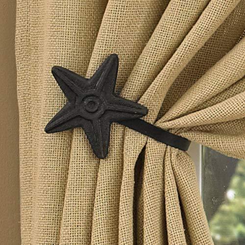 Park Designs Burlap Single Panel, 56 x 84 (Lined Curtains Burlap)