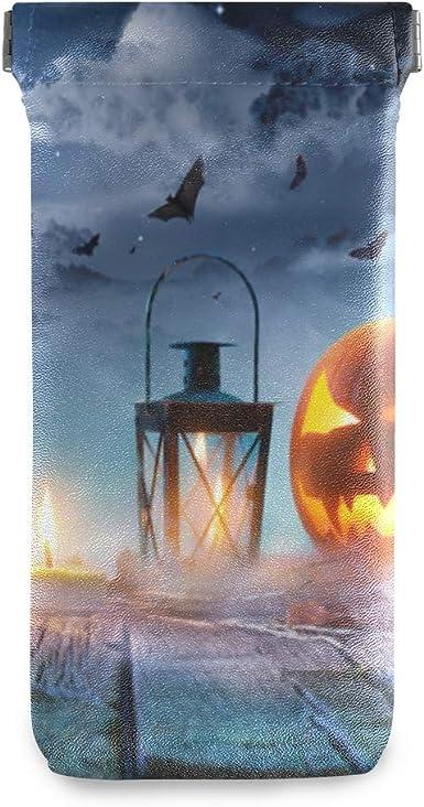 LENNEL Bolsa de joyería Estuches portátiles para anteojos Squeeze Top Halloween Cartoon Pumpkin Light para mujer Hombres Almacenamiento Gafas de sol Bolsa Personalizar: Amazon.es: Ropa y accesorios
