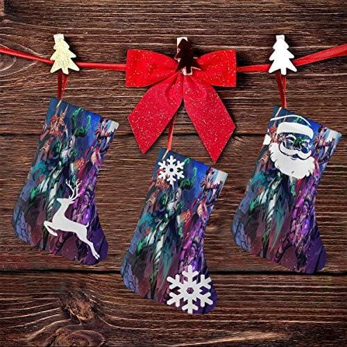クリスマスの日の靴下 (ソックス3個)クリスマスデコレーションソックス ウィザード戦争 クリスマス、ハロウィン 家庭用、ショッピングモール用、お祝いの雰囲気を加える 人気を高める、販売、プロモーション、年次式