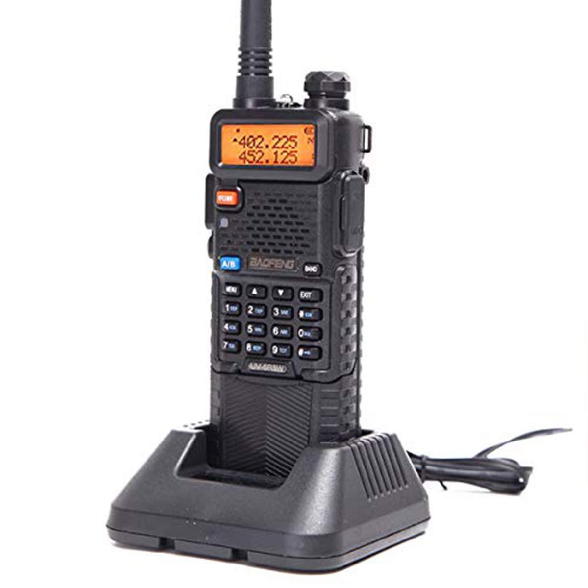 Baofeng UV-5R8W High Power Tri-Power 1W//4W//8W Portable Dual Band Two-Way Radio 3800mAh Battery /& Tactical Antenna
