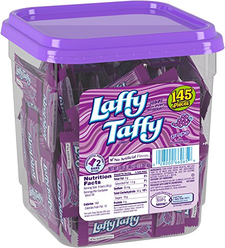 Laffy Taffy Candy Jar, Grape, 145Count