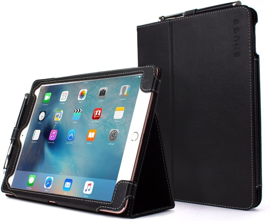 Snugg Leather Kick Stand Kick Stand for Apple iPad Pro 9.7 - Black
