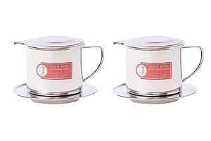 Thang Long Vietnamese Coffee Filter Maker Press. Screw Down Phin Made in Vietnam. Authentic (2, Medium (8 oz)).
