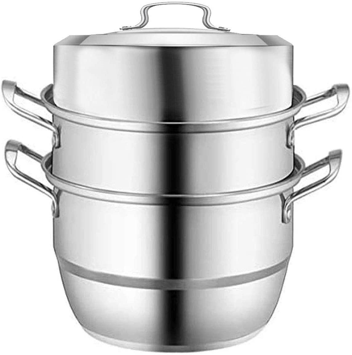 VONOTO Cookware Steamer Pot, Steaming Cookware, Stainless Steel 11 inch 9QT Steamer cooking pot, Rice cooker, Double Boilder, Stack, Steam Soup Pot