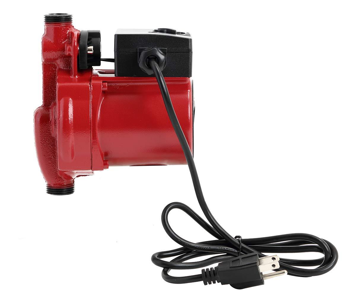 RS15-9 Red KOLERFLO 110V Water Recirculation Pump 120W Automatic Circulation Pump//Circulator Pump for Water Heater System