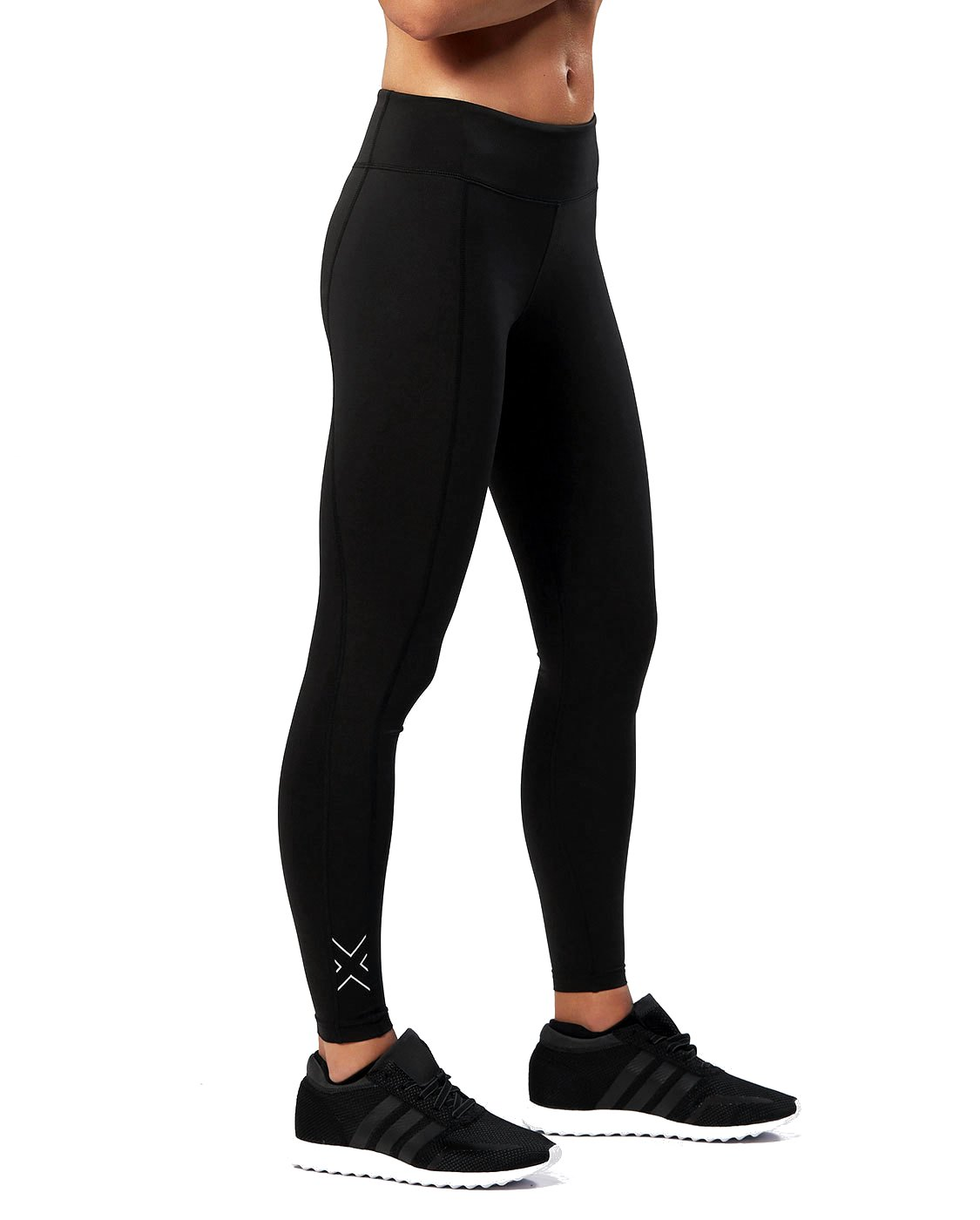 2XU Women's Active Compression Tights, Black/Silver, Medium by 2XU (Image #1)