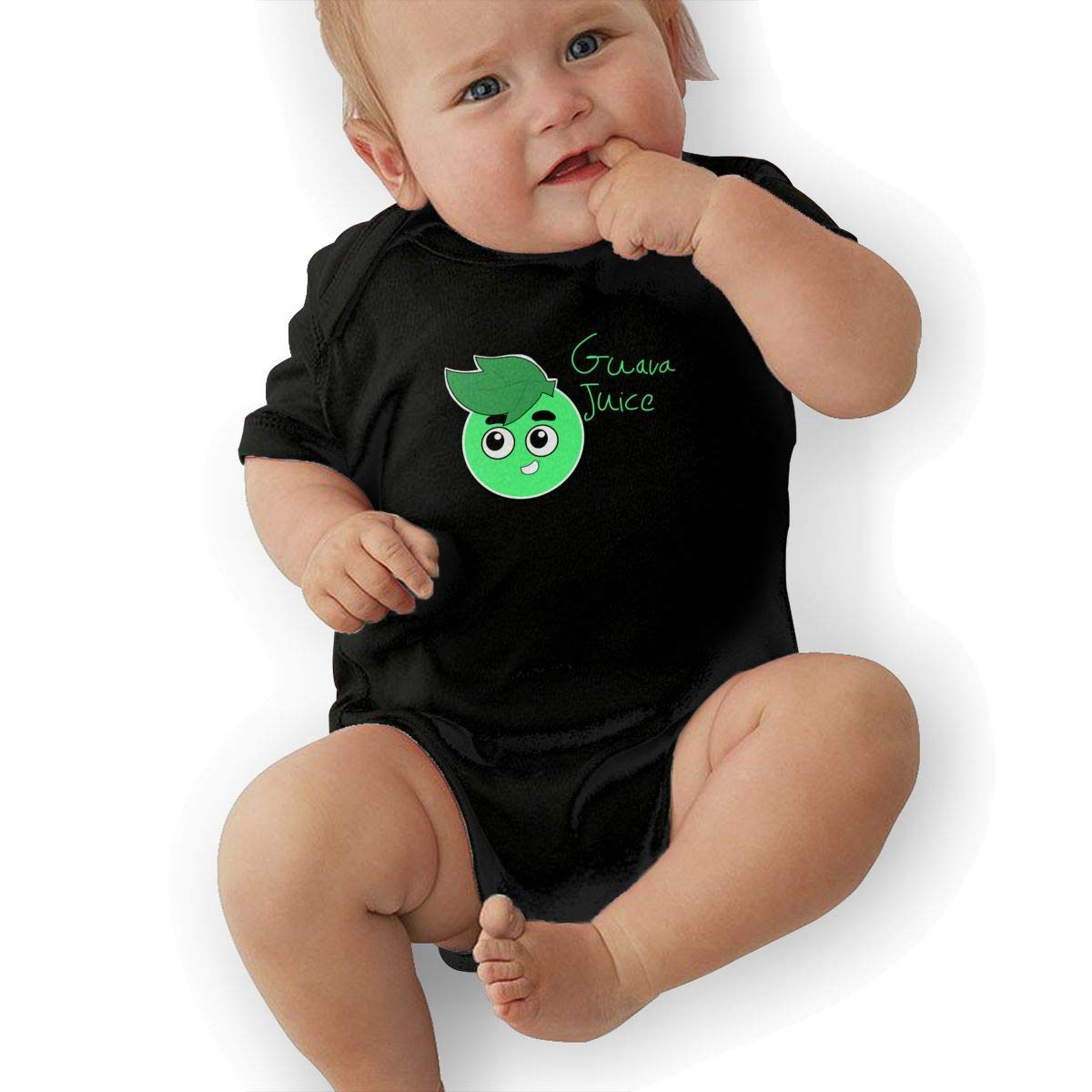 3DmaxTees Guava Juice Short Sleeve Baby Jumpsuit Cute Footies Summer Bodysuits