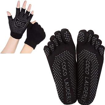 Calcetines y Yoga juegos de guantes con puntos de ...