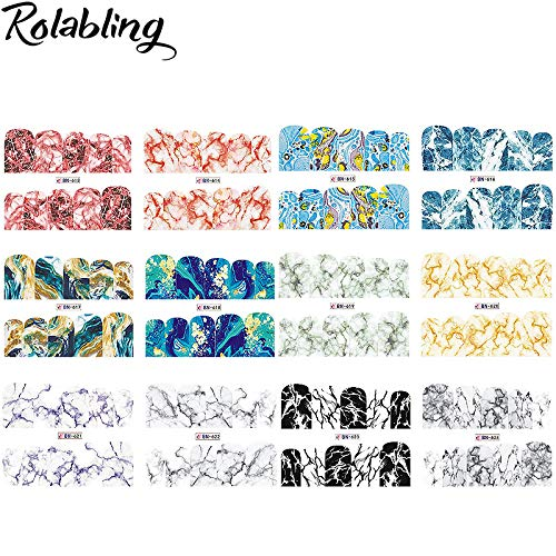 12PCS/SET Marble Design Nail Art Water Decals Full Cover Stickers For Nails DIY Stickers For Nails Accessories Manicure Wraps -