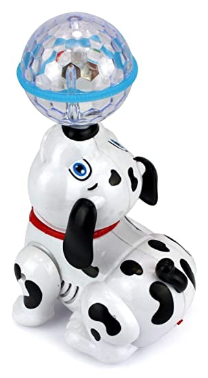 Flabo Cute Dancing Dog Toy with Reflected 3D Lights & Wonderful Music for Kids, Battery Operated, Multicolor
