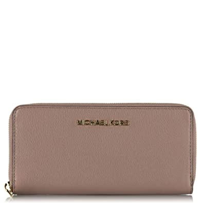 d98dea495c54 Michael Kors Dusty Rose Bedford Continental Leather Women s Wallet Pink  Leather
