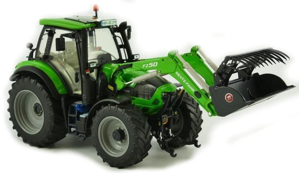 Weise-Toys weise-toys1046 Deutz-Fahr Agrotron 6190 TTV mit Frontlader 3 Tools 2013–2016 Traktor Modell Spielzeug