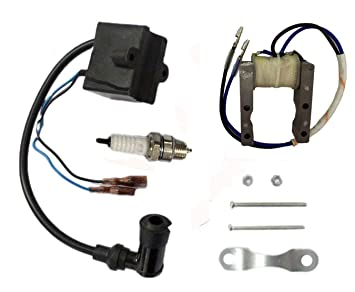 HOOAI New Pack of Magneto Coil CDI Ignition Coil System for 2 Stroke