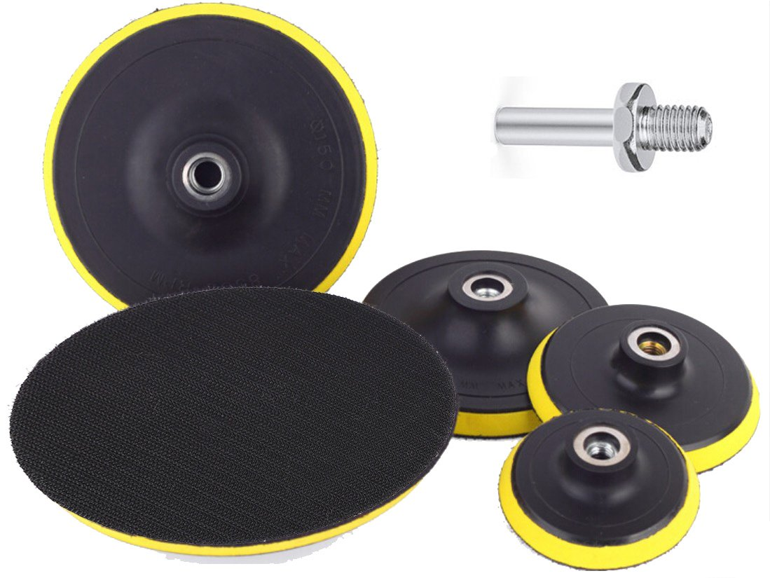 OxoxO 7-Inch/180mm Hook and Loop Backing Pad Orbital Sander Polisher Sanding Pad M14 Drill Adapter