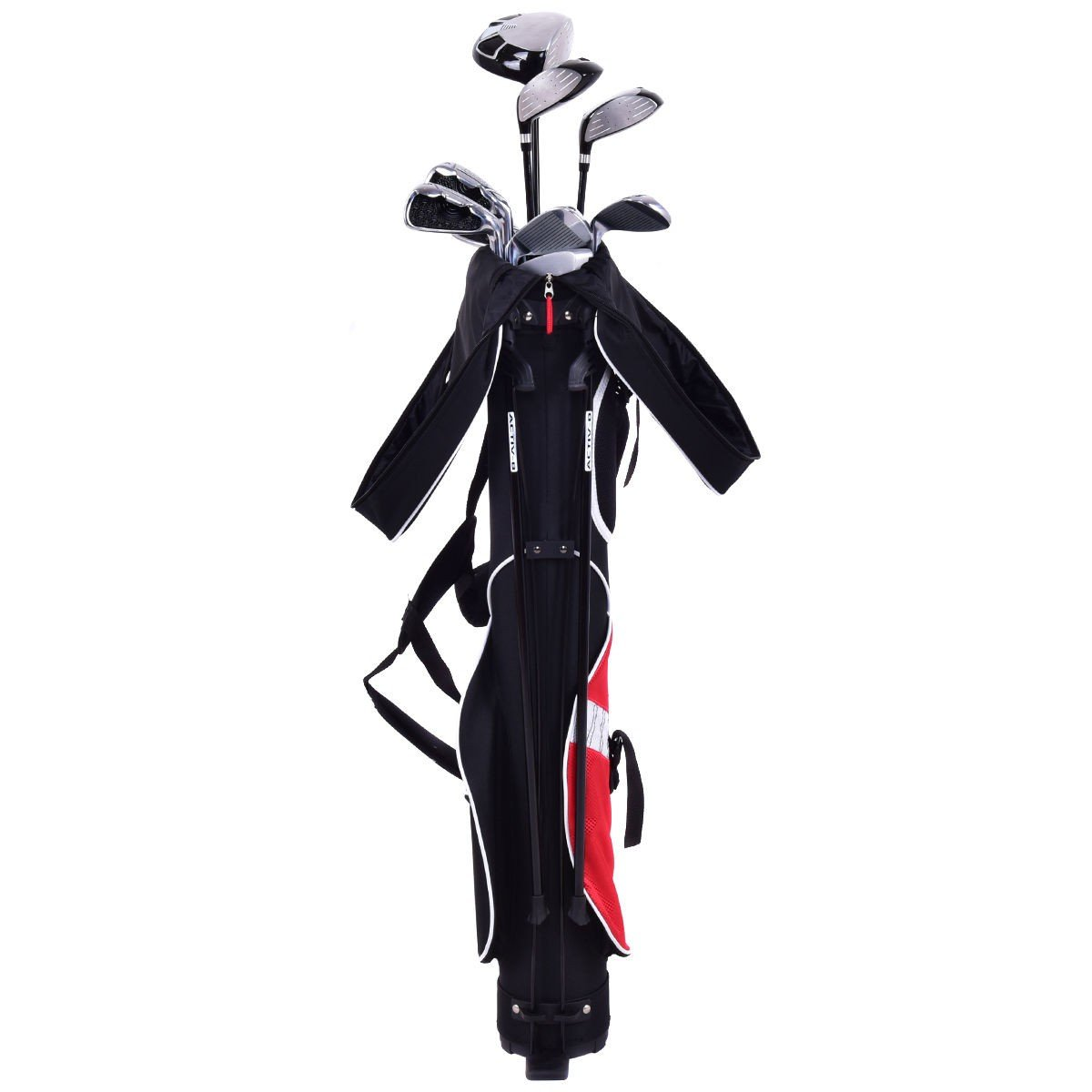 5'' Sunday Golf Bag Stand 7 Clubs Carry Pockets - By Choice Products