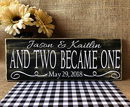 Desconocido rfy9u7 y Two Became One Sign, Cartel de Boda ...