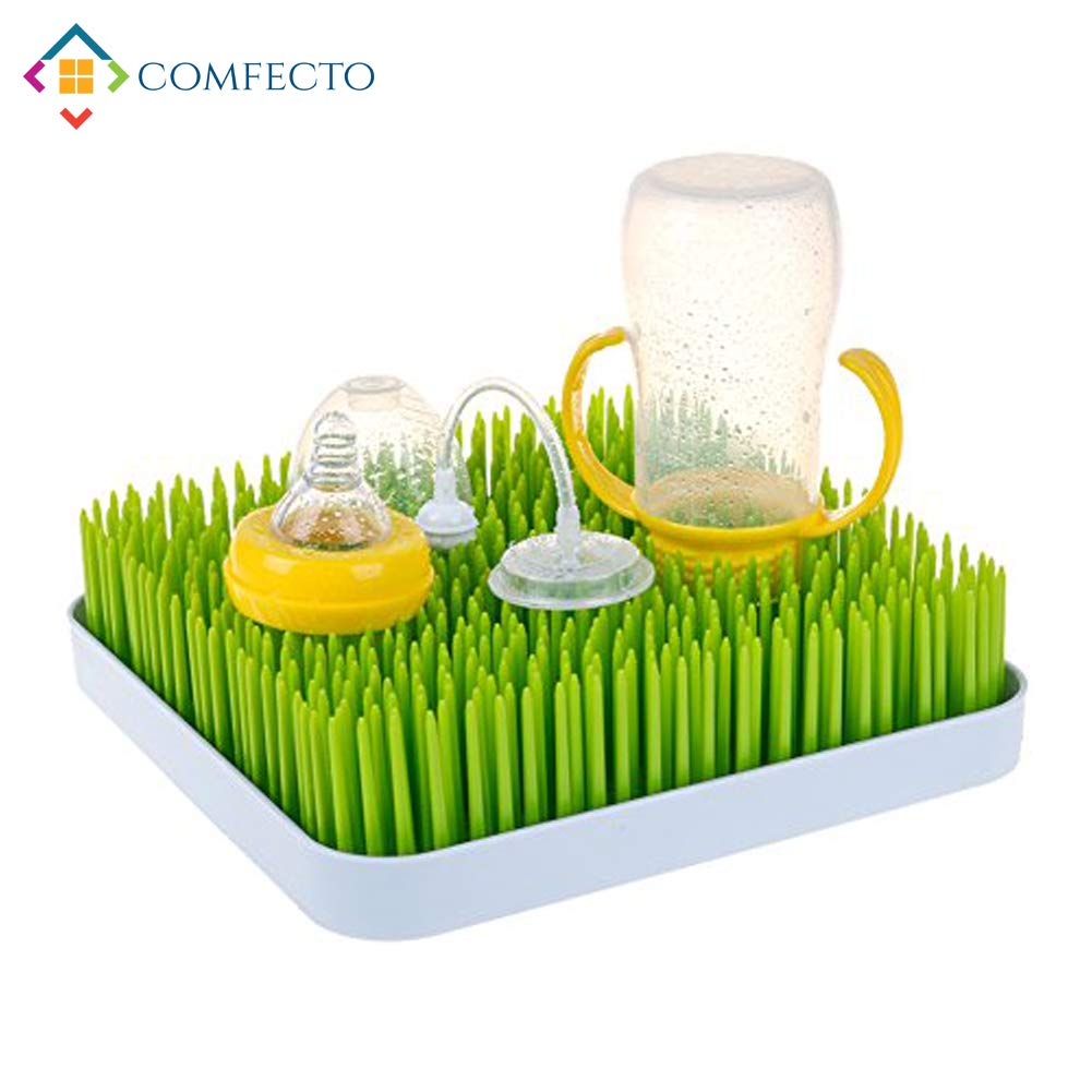COMFECTO Baby Bottle Drying Rack, Green Grass by Comfecto