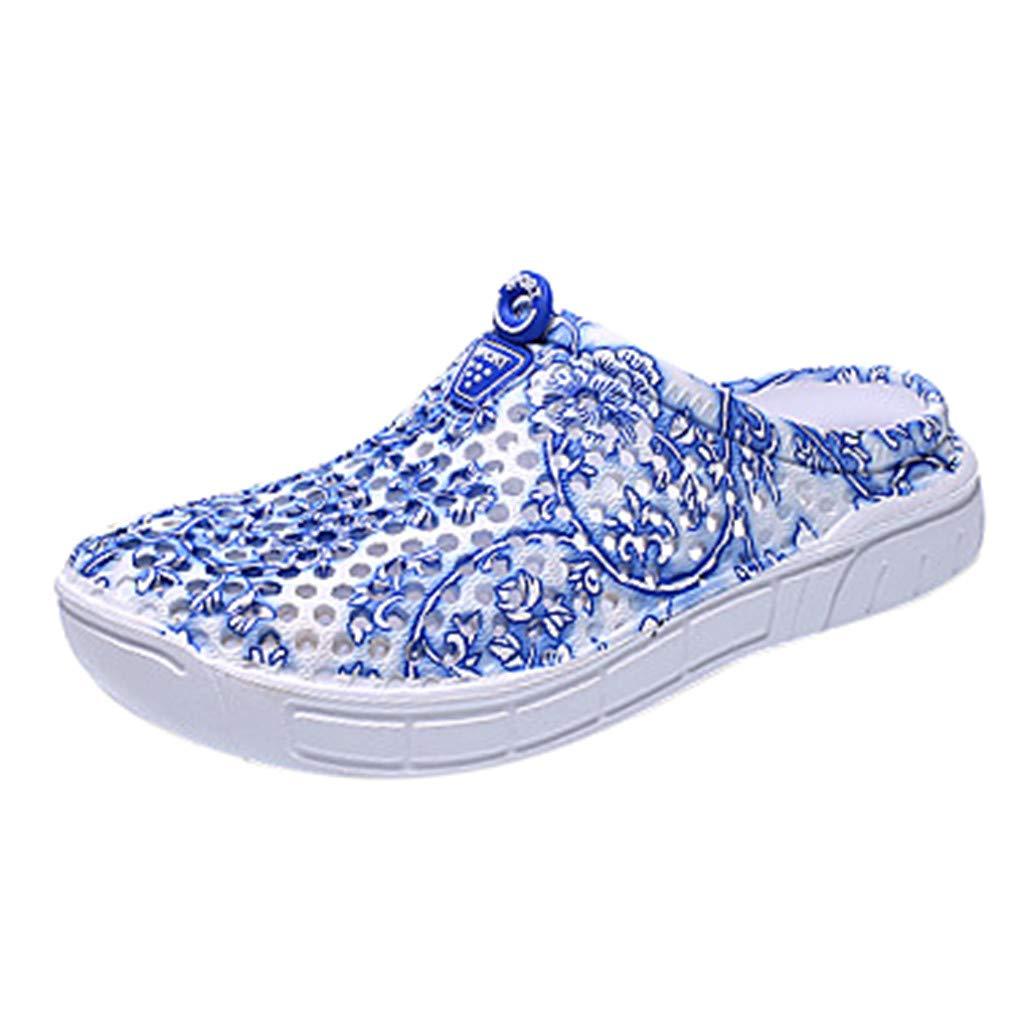 Creazrise Unisex Garden Clogs Shoes Slippers Sandals for Women Men Walk Quick-Dry Lightweight Breathable Blue