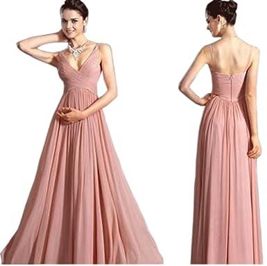 Amazon.com: Zumeet Women LonAg Maxi Chiffon Sleevesless Prom Night ...