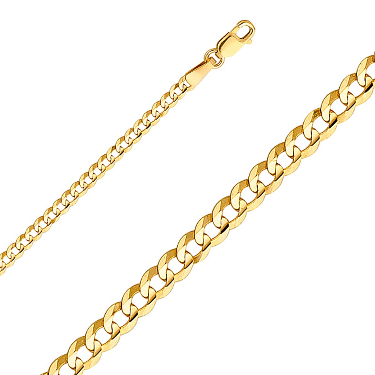 TGDJ 14k Yellow Gold 2.7 mm Curb Cuban Chain - 7/16/18/20/22/24'' (20 Inches) by Top Gold & Diamond Jewelry (Image #1)