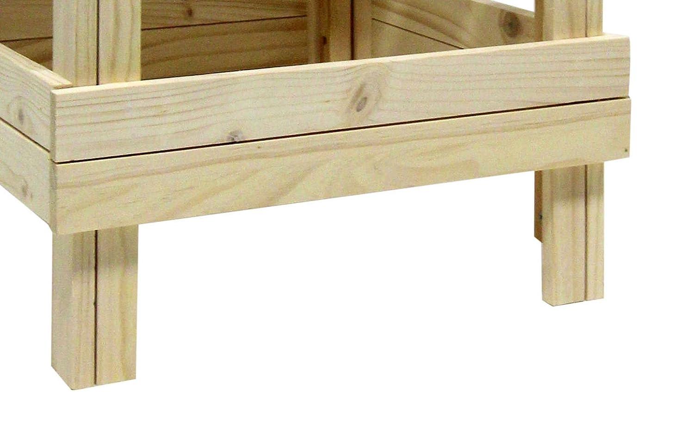Sgabello Con Pallet : Rebecca srl sgabello sedia tipo pallet legno naturale stile
