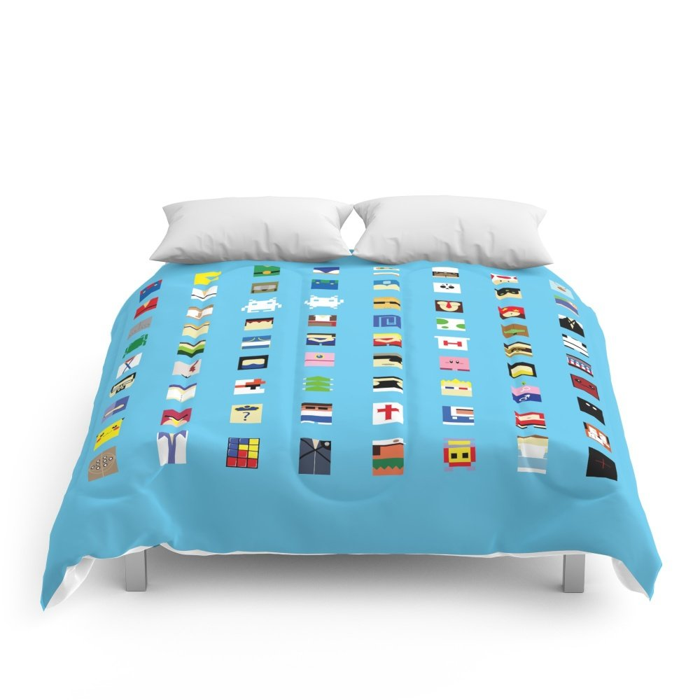 Society6 Minimalism Beloved Videogame Characters Comforters Queen: 88'' x 88''