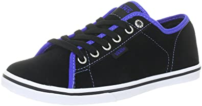 56c5273327 Vans Ferris Lo Pro Trainers Womens Black Schwarz ((Suede) black dazzle blue