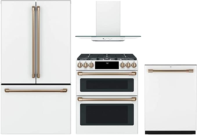 GE Cafe 4 Piece Appliance Package CWE23SP4MW2 36\