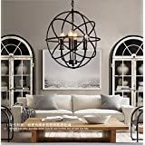 FAYM-Modern minimalist Garden living room bedroom dining room iron chandeliers black (no light bulbs)