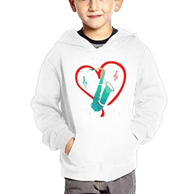 Qij Cloth Saxophone Boy Sweatshirts Cotton Windproof Sweatshirts Hoodies