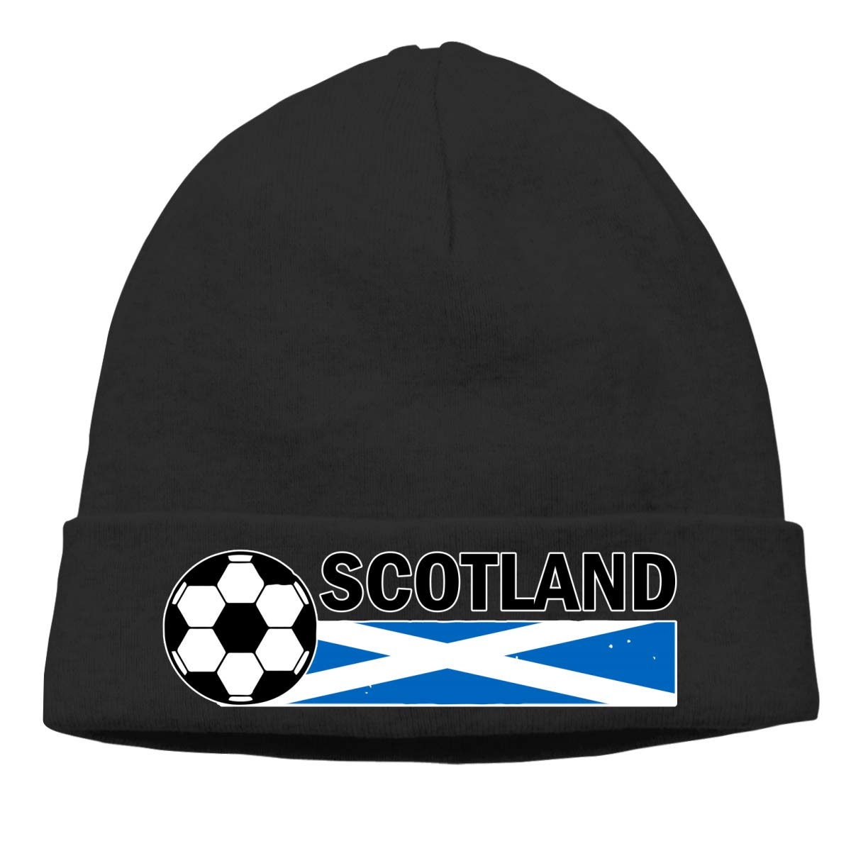 Stretchy /& Soft Winter Cap Thin Scotland Flag Soccer Football Men /& Women Solid Color Beanie Hat