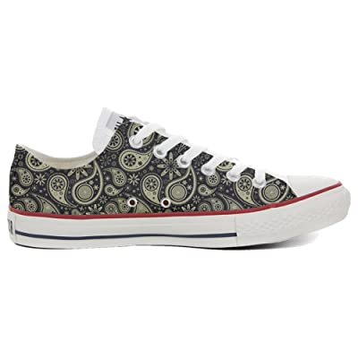 Converse All Star Slim Chaussures Coutume Mixte Adulte (Produit artisanalPersonnalisé) Indian Paisley