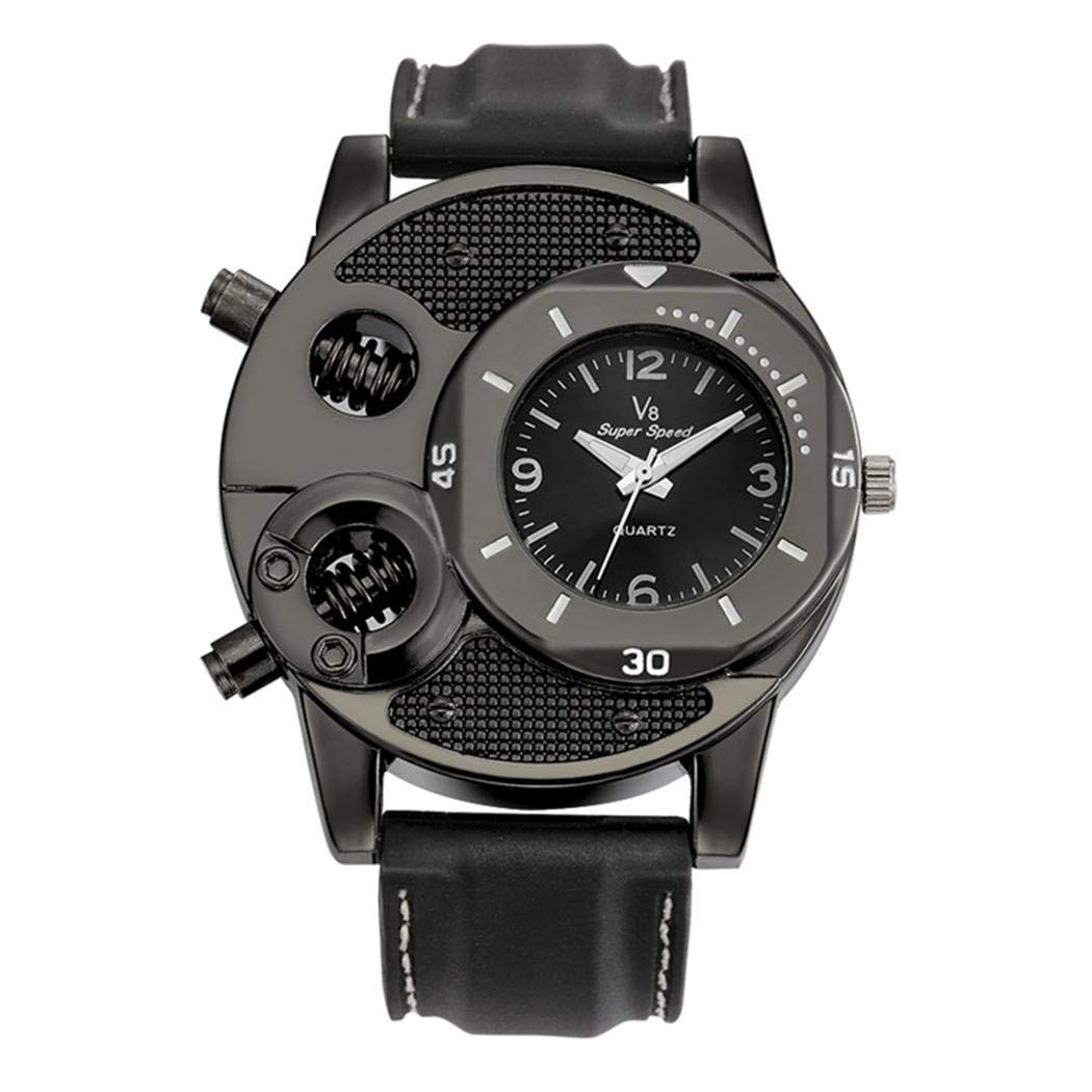 Bulges Men Fashion Quartz Alloy Dial Silicone Strap Students Sporting Wrist Watch Smart Watches