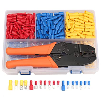 Eagles 900Pcs Insulated Electrical wire connector kit with crimp tool on