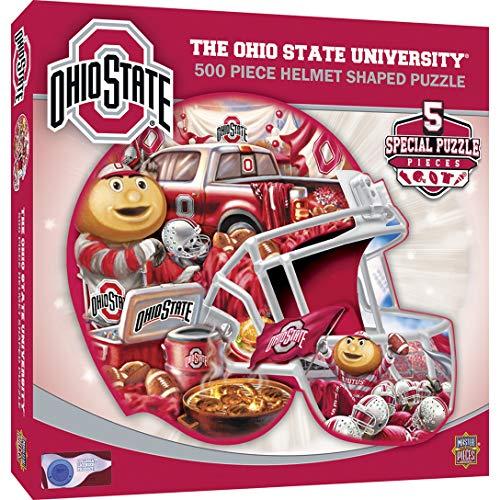 (MasterPieces NCAA Ohio State Buckeyes 500 Piece Helmet Shaped Jigsaw Puzzle )