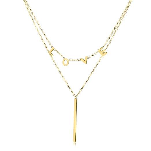Amazoncom OSIANA Y necklaceWomens Titanium Stainless Steel