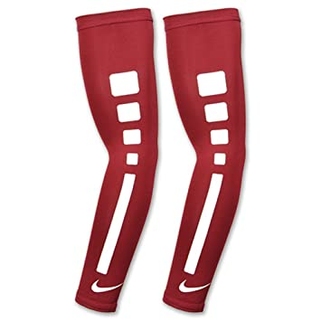 19cfbf8459 Nike Elite Sports Basketball Shooter Arm Sleeves 1 Pair Compression Red